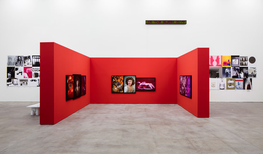 Installation View, Jenny Holzer, Barbara Kruger, Louise Lawler, Cindy Sherman, Rosemarie Trockel, Sprüth Magers, Berlin, September 17 - October 21, 2015