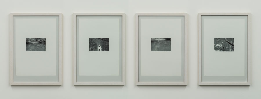 Rolf Julius: »Ohne Titel«, 2001, Four-piece Photoseries, Pigment Print On Aprox. 180g Paper, Ed. 3/20, Each: 29,7 X 42 Cm, Installation View Kehrer Galerie, Berlin: »Rolf Julius: Unendlich«, 08.11.2015 – 23.01.2016