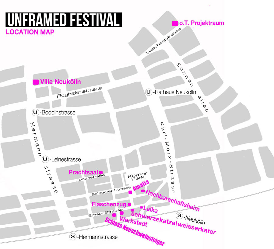 UNFRAMED FESTIVAL: Venues