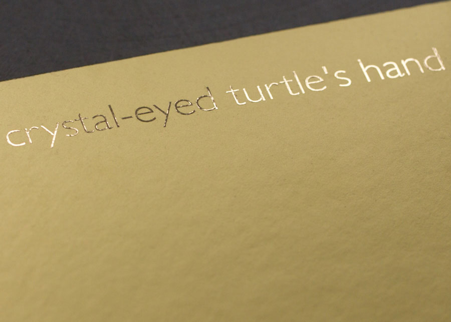 »i Join The Crystal-eyed Turtle's Hand«, © Diane Vincent, Limited Edition, Released In December 2015