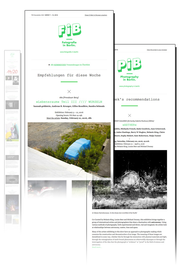PiB's Weekly Newsletter © PiB Photography In Berlin