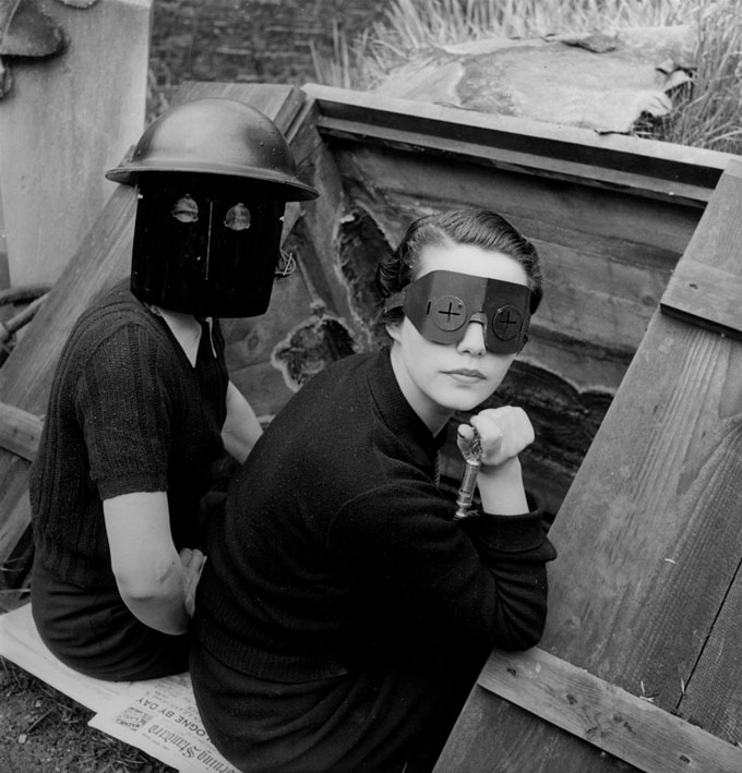 Lee Miller, Fire Masks, London, England, 1941 © Lee Miller Archives, England 2016. All Rights Reserved. Www.leemiller.co.uk