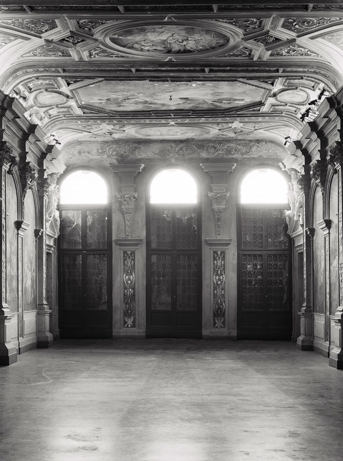 Axel Hütte, Ca'Corner Della Regina-2, Italy, 2012, Black And White Photograph Printed On Glass And Mirror, Edition 3/4, 215 X 155 Cm / 84 2/3 X 61 In, AH/PH 3 © Axel Hütte, Courtesy Of The Artist And Daniel Marzona, Berlin