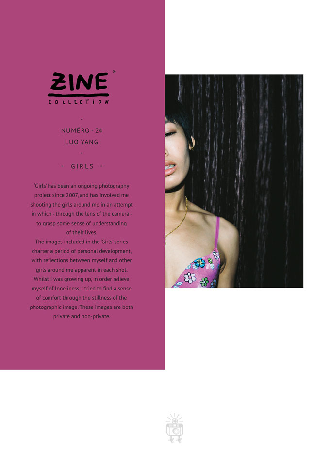 "Zine Collection No. 24 ""Girls"" by Luo Yang, published in 2014 by Editions Bessard"