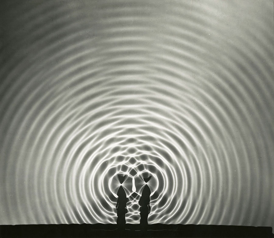 Berenice Abbott, Interference Pattern, 1958-61 © Berenice Abbott / Commerce Graphics, Courtesy Howard Greenberg Gallery, NY