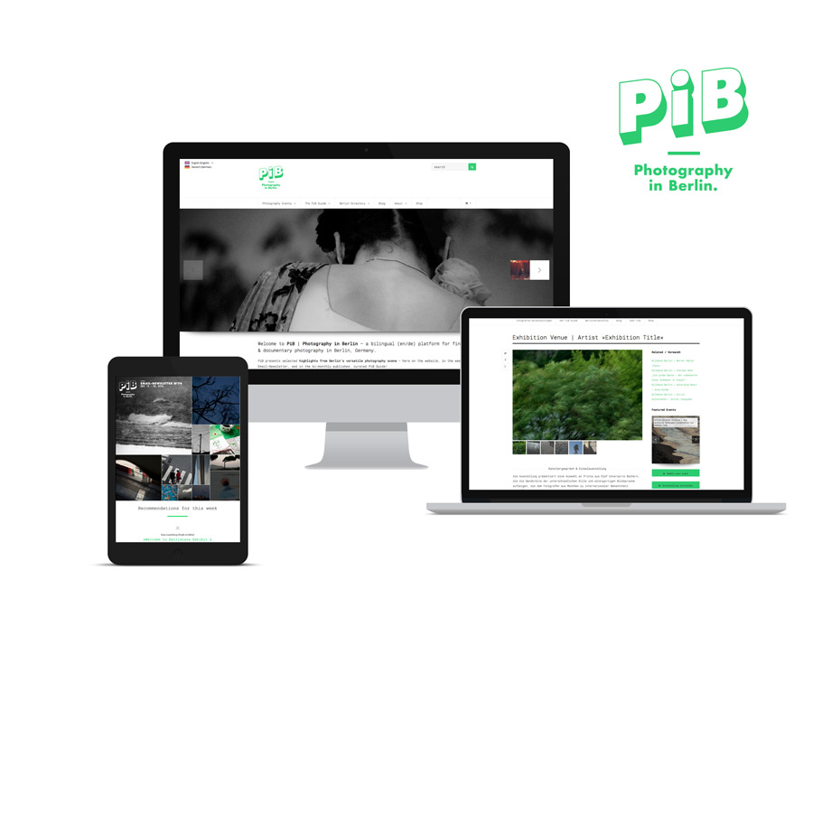 PiB Mockup Website & Newsletter, Various Devices