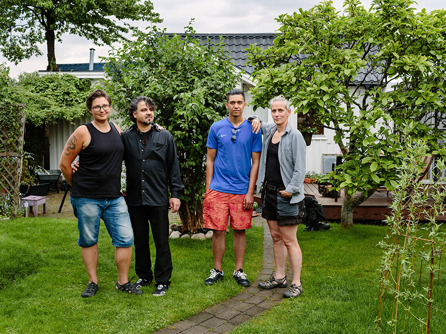 Sweden. Married Couple Gabriella And Candel Webster Host Syrian Ahmad Lababidi, His Son, Ali, 18 And Daughter, Hiba (16) Who Is Not Pictured, In Malmö. Photo © Aubrey Wade / UNHCR.