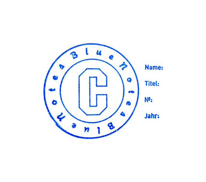 """COPYRIGHT Blue Notes"", Stempel"