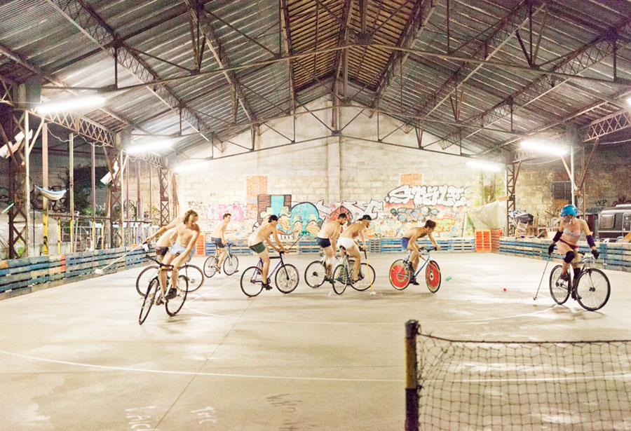 Bikepolo Ruined My Life. Bikepolo Saved My Life. © Gitti La Mar