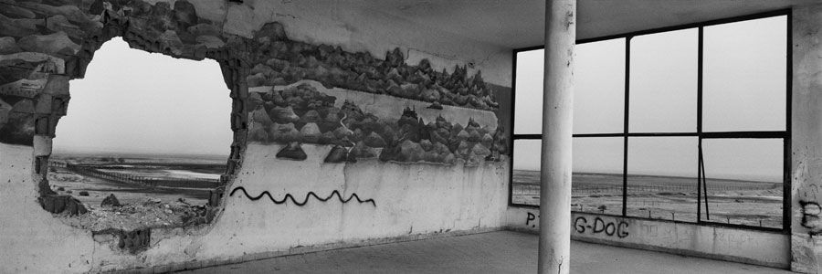 Kalia Junction, Dead Sea Area, Crusader Map Mural © Josef Koudelka / Magnum Photos