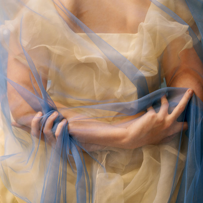 © Deborah Paauwe, Blue Curtain, 2007, Type C Photograph, 75 X 75 Cm, Edition Of 6, Courtesy Of The Artist And Michael Reid Gallery