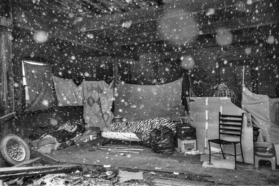 """From The Series """"Silk City"""" © Todd R Darling. Squatters Take Shelter In An Abandoned Silk Mill. Temperatures Were Around 15F. Paterson, New Jersey"""