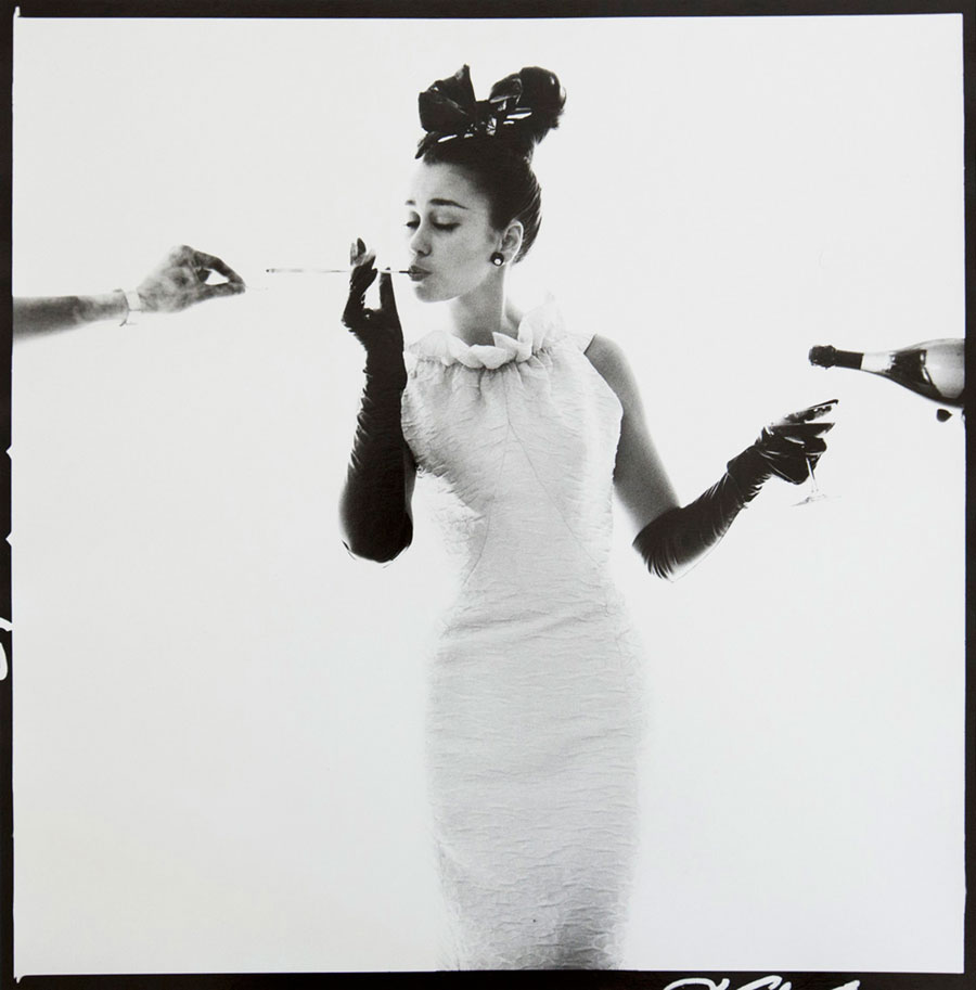 Model With Champagne And Cigarette, Vogue, 1963 © Bert Stern. Courtesy Galerie 36 And Bert Stern Trust