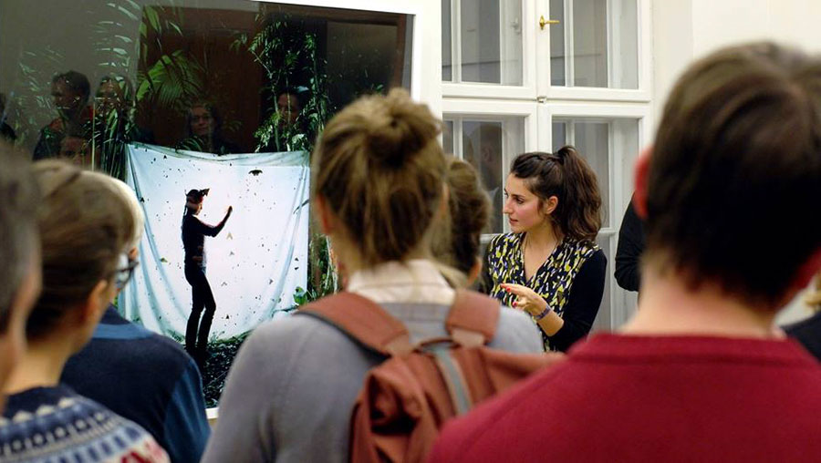 © CUCO Berlin, Curators Walk During The Show 'Longing For Landscape', Tieranatomisches Theater Berlin, 2017