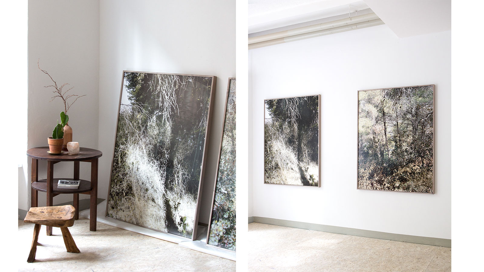 Studio Views, Untitled (7), 2018, And Untitled (3), 2017. Fine Art Prints, 100 X 133 Cm, Framed, Museum Glass © Mirjana Vrbaški