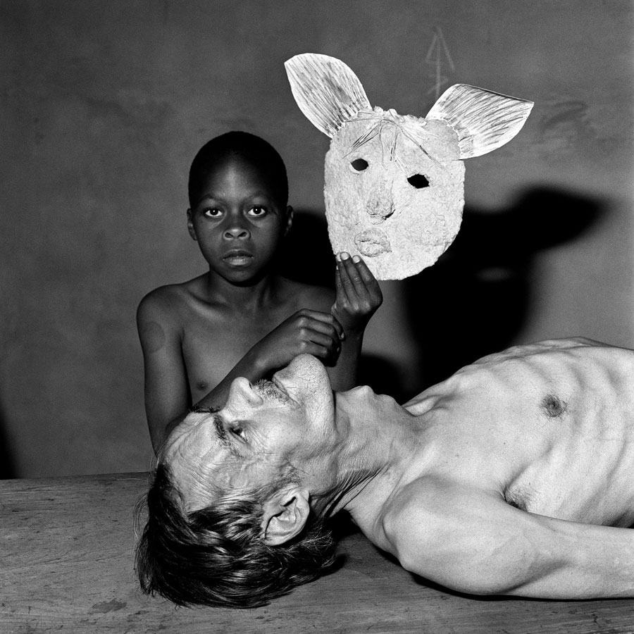 Tommy, Samson And A Mask, 2000 © Roger Ballen