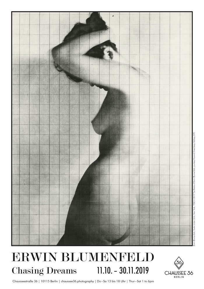 Chaussee 36 Photography | Erwin Blumenfeld – Chasing Dreams. Photo: Erwin Blumenfeld, Nude Under Grid, New York, 1950 © 2019 The Estate Of Erwin Blumenfeld, Courtesy Howard Greenberg Gallery, NYC