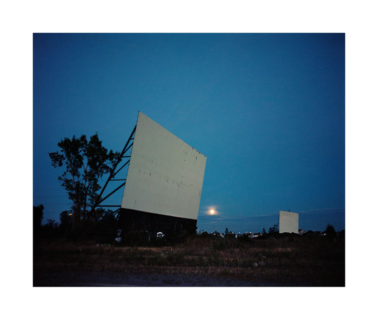 Drive-in At Night, Montréal, Canada, 2013, C Print, 124 X 139.5 Cm / 127.1 X 142.6 Cm, Courtesy Wim Wenders Und Blain|Southern © Wim Wenders