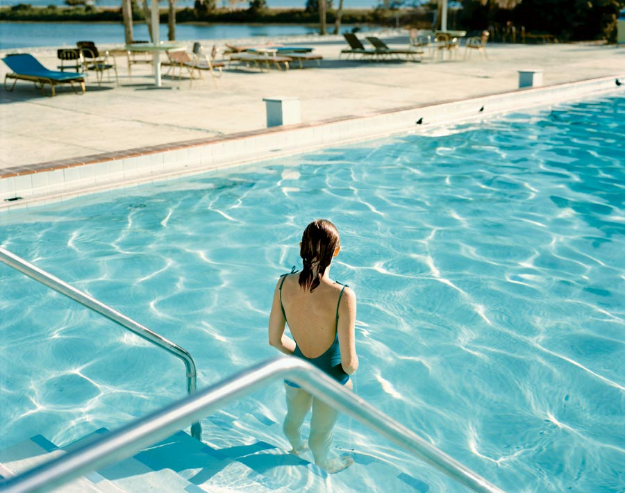 "Ginger Shore, Causeway Inn, Tampa, Florida, Nov. 17, 1977. From The Series ""Uncommon Places"" © Stephen Shore. Courtesy 303 Gallery, New York"