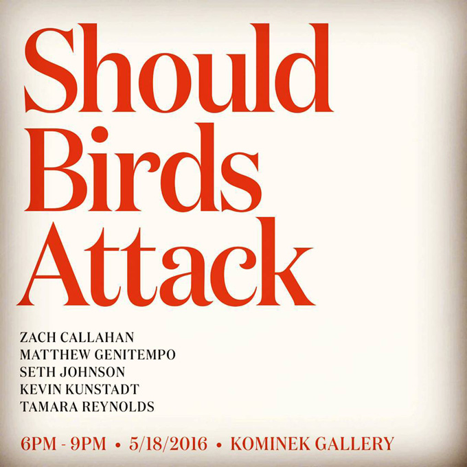 Kominek Gallery   »Should Birds Attack« Hartford M.F.A. Photography Group Show