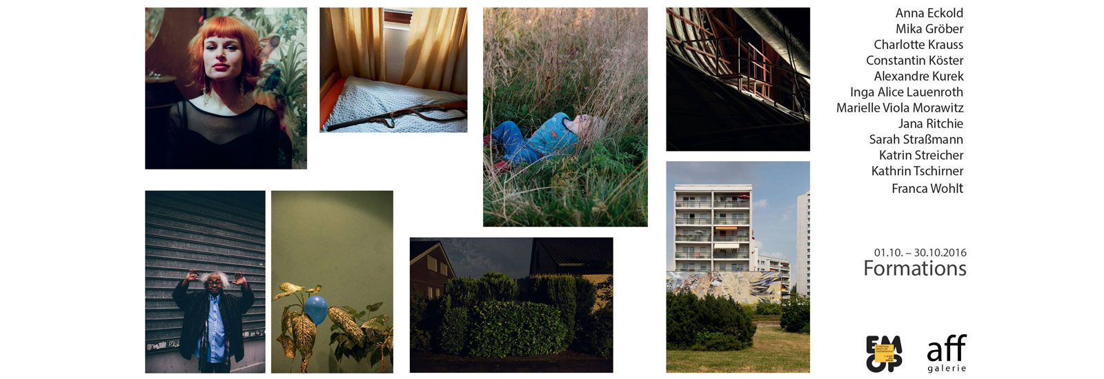 Performative Curator's Hangings On Oct 9+16+23: Aff Galerie | »Formations«