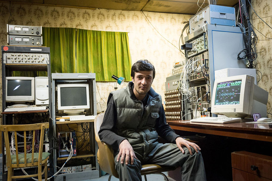 © Erol Gurian, Aragats Cosmic Ray Research Station, Armenia. Technician Vahagn Hovhannisyan In The Computer Center Of The Station.