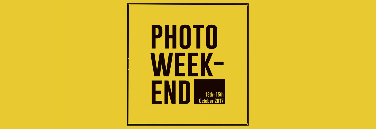 AnalogueNOW! Photo Weekend 2017 | Oct 13 — 15