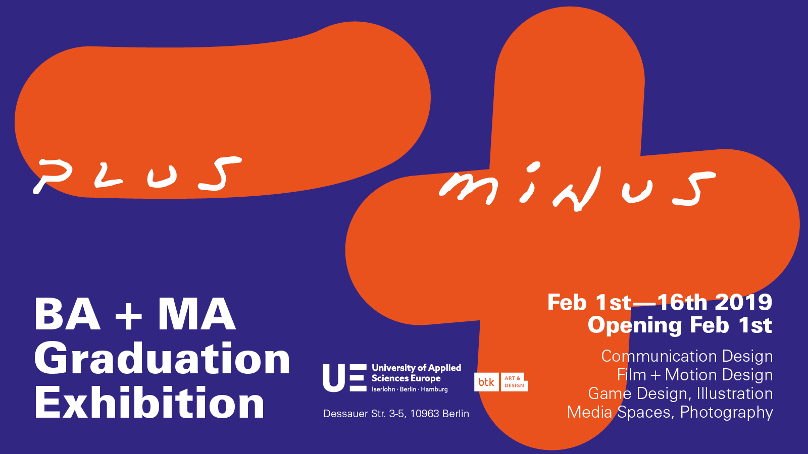 UE Gallery | »Plus Minus« Bachelor And Master Exhibition
