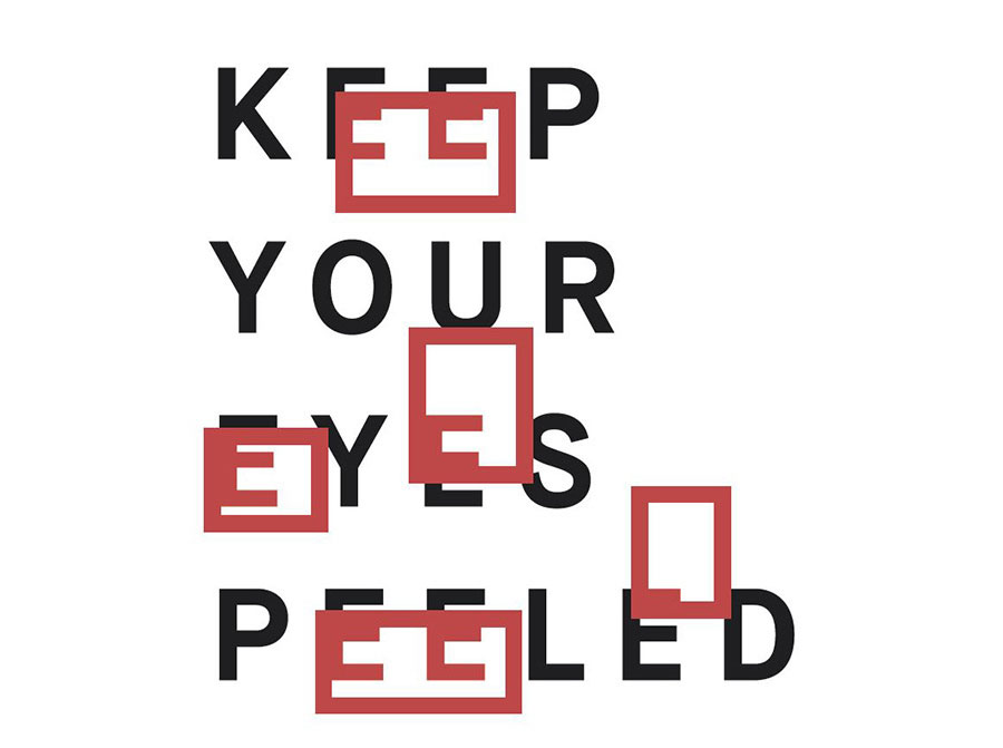 Aff Galerie |Keep Your Eyes Peeled V | Group Show On Occasion Of Gallery Weekend Berlin 2019. Design © Felix Link