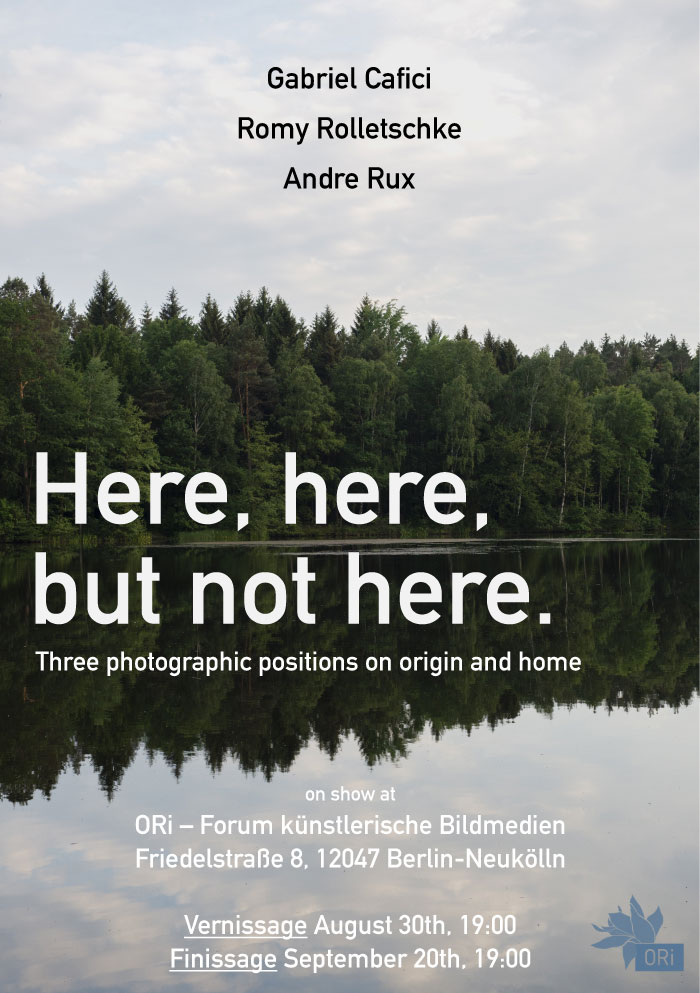 ORi Berlin | Here, Here, But Not Here, Exhibition Flyer. Image © Romy Rolletschke