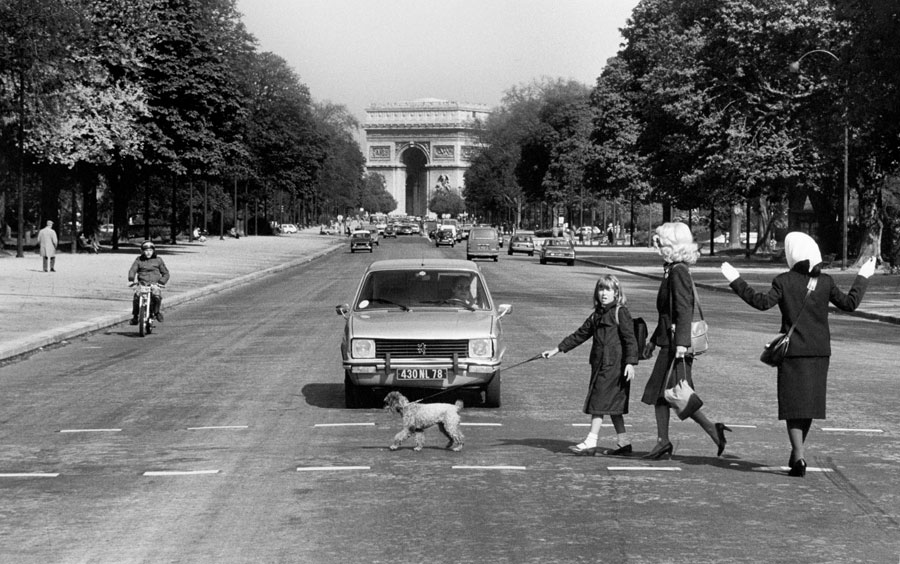 "Roger Melis, Avenue Foch, 1982, From The Series ""Paris By Foot"" © Roger Melis Estate / Mathias Bertram"